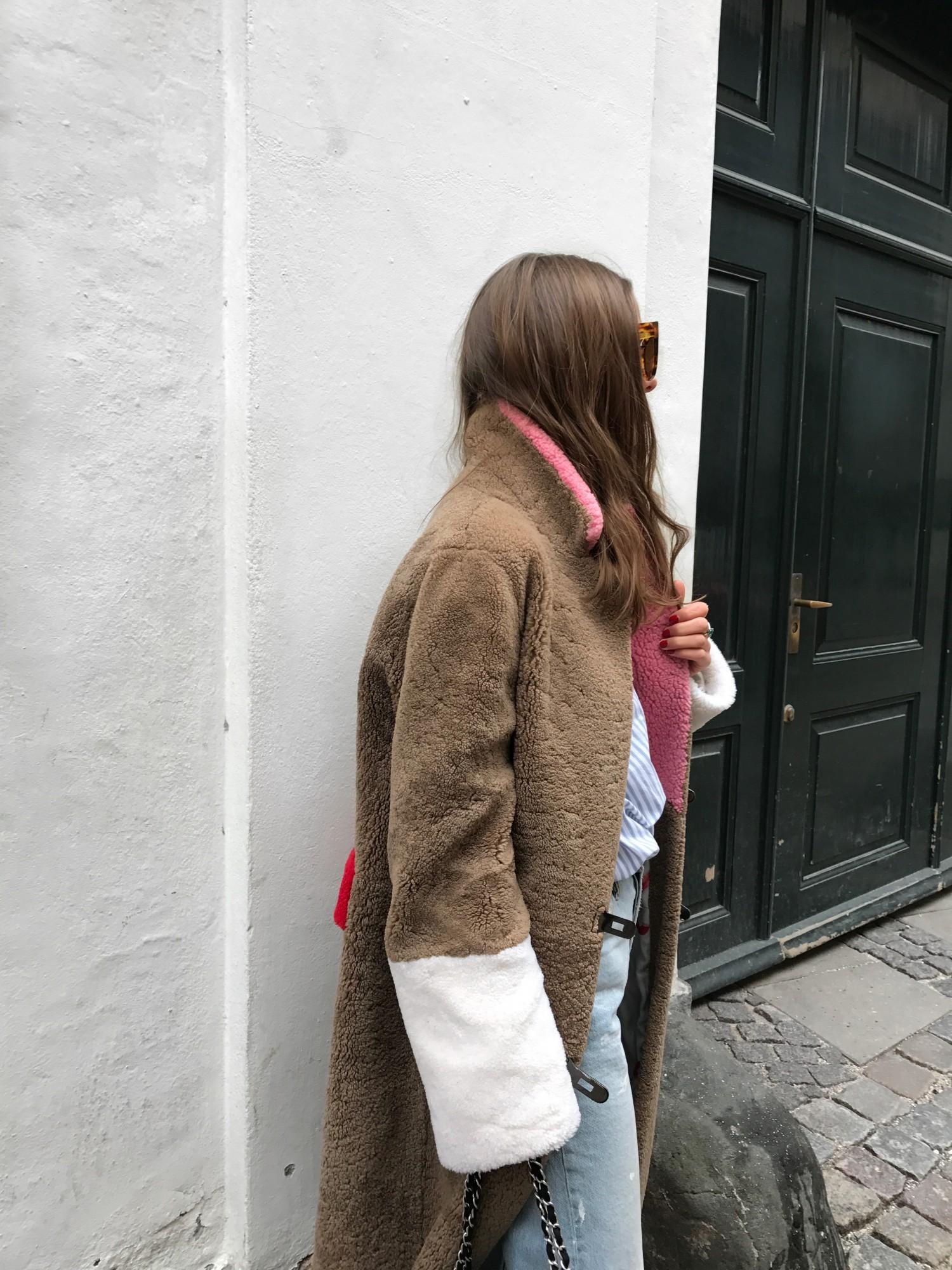 saks potts febbe skin coat - sophia roe style