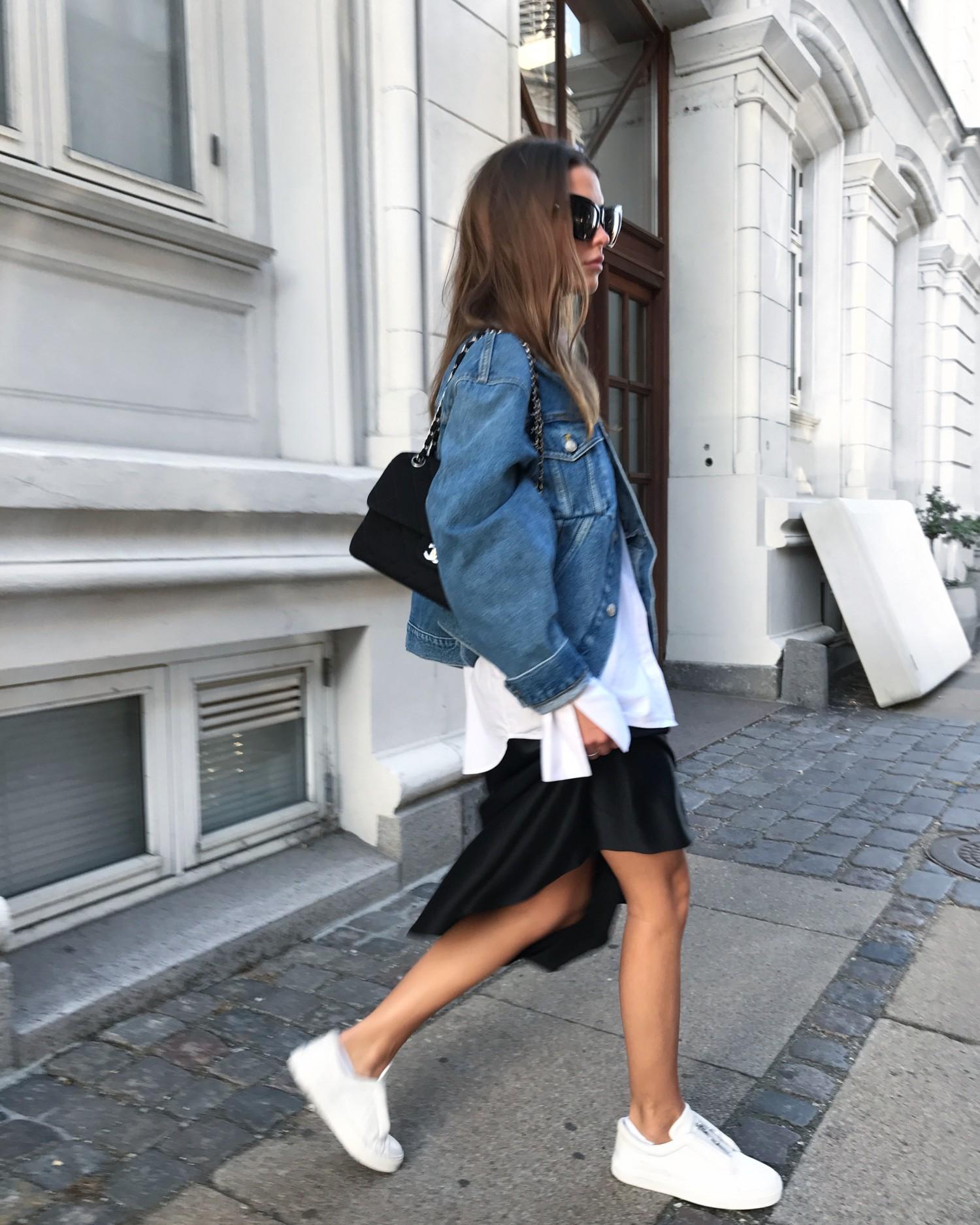 Sophia Roe wearing Balenciaga denim jacket